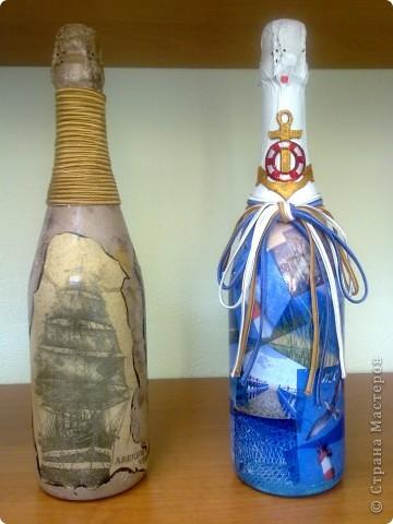 В подарок руководителю две бутылочки с морской тематикой фото 2