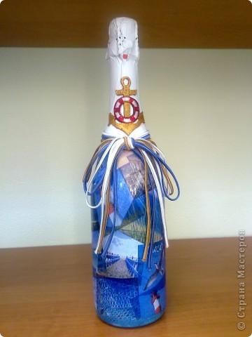 В подарок руководителю две бутылочки с морской тематикой фото 3