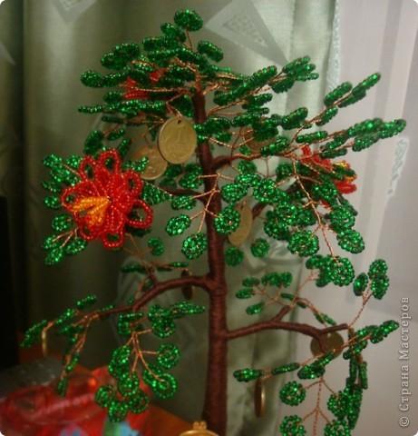 Вот обещанное денежное дерево, которое делала в подарок друзьям на свадьбу. Под деревом сидит Хоттей бог богатства и благополучия. фото 2