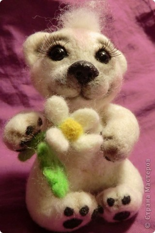 """Такая мишка Мишель получилась уже дома после """"шлифования"""" и дарения ей цветочков и ягодок фото 2"""