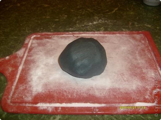 Приготовление черной мастики. Столкнулась с проблемой, что для выразительности торта и фигурок из мастики необходим черный цвет. Как это сделать нашла в интернете и вот что у меня получилось... фото 8