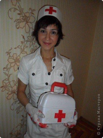 Повязка медсестры на руку своими руками