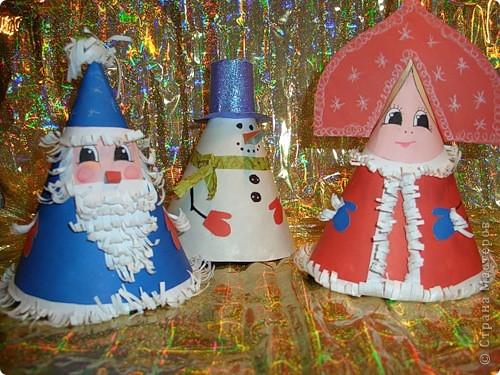 Новогодние поделки снеговика своими руками из бумаги