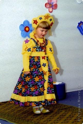 костюм Лисички (пошит из старого халата,тесемочек и отделан мехом) фото 5