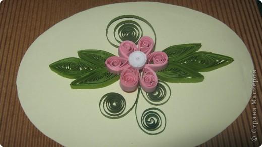 как же я рада что научилась делать такие петельчатые цветы и листья .. первый - беленький немного корявенький - а второй- голубой ,просто красавец!!  сама себя хвалю!!!благодарю всех мастериц ..за подсказки и главное ссылки ..!! фото 4