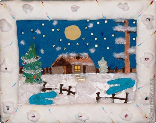 Коллаж на тему зима своими руками