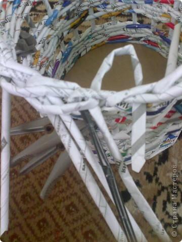 Мастер-класс Плетение МК для Насти Как я делаю дырявую корзину Бумага журнальная фото 39