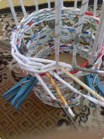 Мастер-класс Плетение МК для Насти Как я делаю дырявую корзину Бумага журнальная фото 33