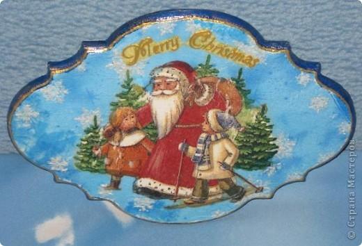 """Мы  с сыном тоже не отстаем от жителей """"Страны"""", поддерживанием """"новогодоманию"""" и полностью погрузились в процесс создания новогодних подарков. Это первый из них в готовом виде. (ну практически готовом, не хватает только петельки) фото 3"""