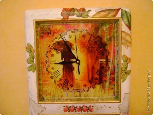 И часы и ключница,немнго мне кажется переборщила с декором... фото 3