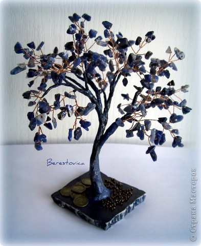 Поделка изделие Бисероплетение Деревья из камней Бисер фото 5