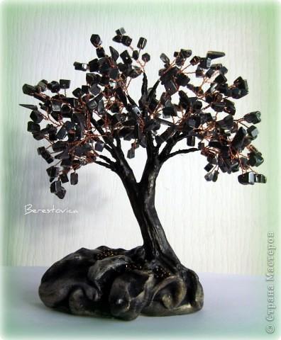 Поделка изделие Бисероплетение Деревья из камней Бисер фото 8