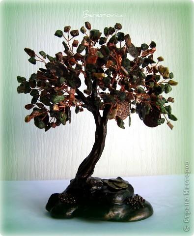 Поделка изделие Бисероплетение Деревья из камней Бисер фото 6