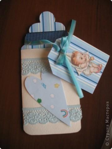 Открытка своими руками с рождением ребенка фото
