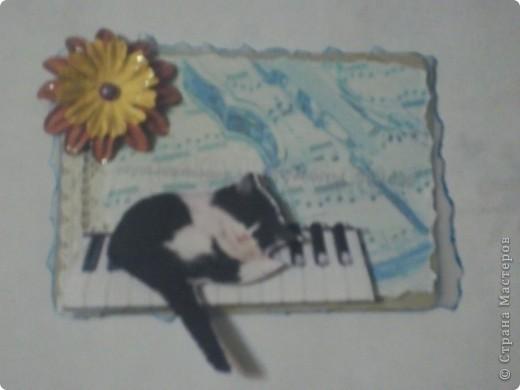 Карточки сделаны для АТС-игры Елены Гайдаенко. Лена, спасибо! 1. Гармония. Для фона использована калька и распечатка с нотами и музыкальным инструментом. фото 1