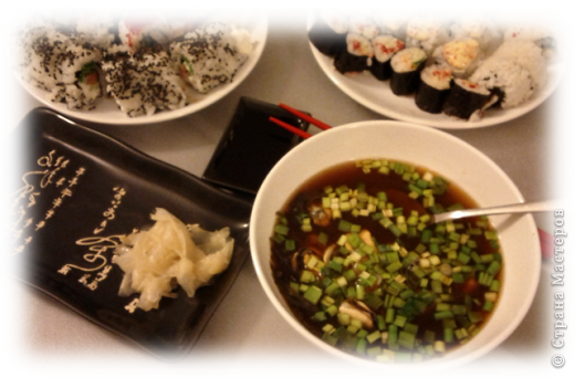 Любителям японской кухни посвящается =) Мисо-суп из морепродуктов. Обожаю его! Ингридиенты, конечно, специфические, в простом магазинчике не купишь, но если постараться, то можно найти =) фото 1