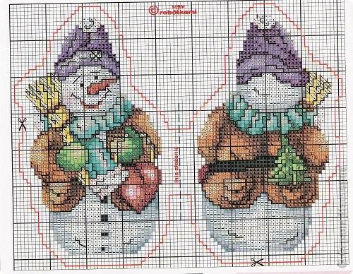 Вышивка Квартет сніговиків