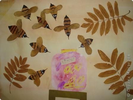 """Всем здравствуйте! В нашем центре традиционно каждый октябрь проводится праздник осени. Детки не только показывают, чему научились в нашем центре развития, но и вместе с родителями готовят стихотворения, рисуют рисунки, делают поделки. Представляю Вашему вниманию некоторые поделки (возраст деток 3-6 лет). Шляпка сделана по МК из Страны Мастеров. Наша """"осень"""" сразу примерила ее на празднике.  фото 3"""