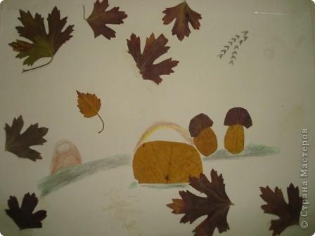 """Всем здравствуйте! В нашем центре традиционно каждый октябрь проводится праздник осени. Детки не только показывают, чему научились в нашем центре развития, но и вместе с родителями готовят стихотворения, рисуют рисунки, делают поделки. Представляю Вашему вниманию некоторые поделки (возраст деток 3-6 лет). Шляпка сделана по МК из Страны Мастеров. Наша """"осень"""" сразу примерила ее на празднике.  фото 5"""