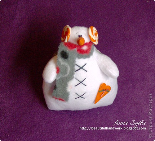 Вот такой снеговик тильда получился а