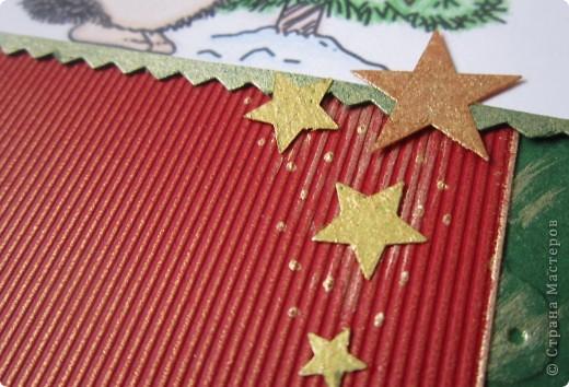 Опять новогодня открытка и опять в той же цветовой гамме. фото 2