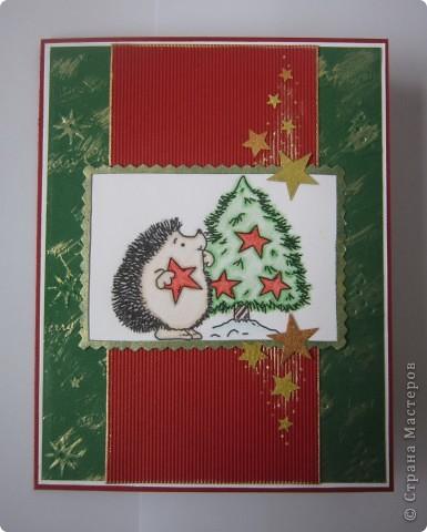 Опять новогодня открытка и опять в той же цветовой гамме. фото 1
