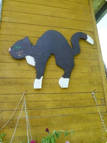 Коты поделки для дачи