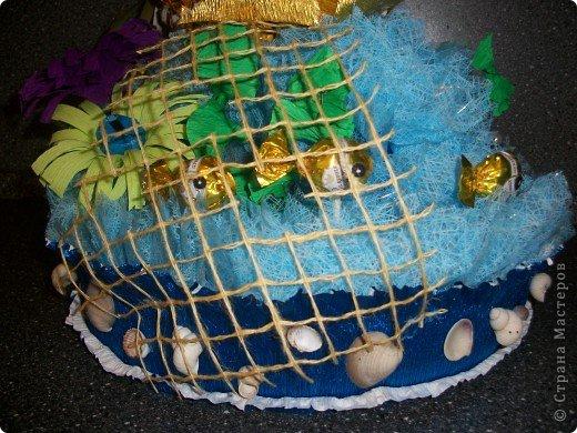 """Вот ОНА - моя красавица, моя золотая рыбка! Сделала я такую рыбку специально для своего папочки на День Рождение. Он любит у меня рыбалку и, как говорится, """"Плох тот рыбак, который не мечтает поймать золотую рыбку"""" )))) Поменяла фон, все-таки фон имеет большое значение! фото 4"""
