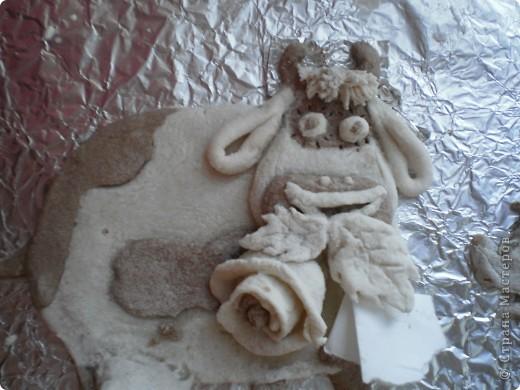 Решила смешать несколько техник: лепку из соленого теста, плетение и  декупаж.  Вот что получилось... фото 3