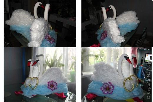 Идею этих лебедей взяла тут:  https://stranamasterov.ru/node/187501#comment-2792501 Вот результат! Спасибо автору за идею. Лебедей делала на свадьбу младшей сестренки как украшение на машину. фото 8