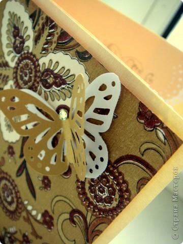 Делала коллеге на день рождения. Понравилась :) Основа открытки бумага для пастели, фон - салфетка, приклееная на картон. фото 3