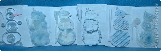 В серии 6 штук со снеговиками из различных материалов. фото 1