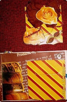 Это на самом деле первый мини-альбом.  Размер 7,5х10,5см. Создавался по мотивам карточек АТС и с использование подарочков, присланных в письмах. фото 10