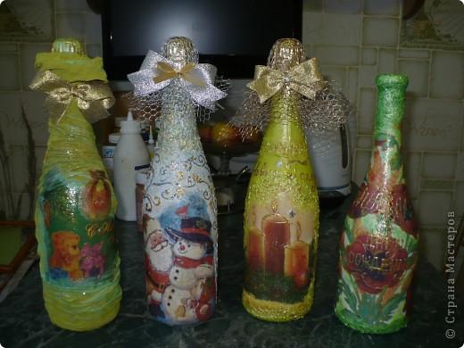 Очень понравилось оформлять бутылочки, но а солёное тесто тоже не хочу бросать...РАЗРЫВАЮСЬ..... фото 8