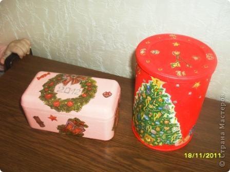 Шкатулочка и Баночка на Новый год!!! фото 1