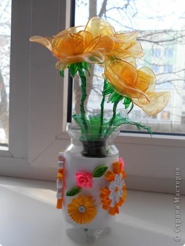 Цветы из бутылок фото 3