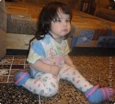 Вот еще одни тапочки теперь для младшей дочки лапочки. Балетки для старшей дочки вы можете посмотреть здесь https://stranamasterov.ru/node/271985  фото 6
