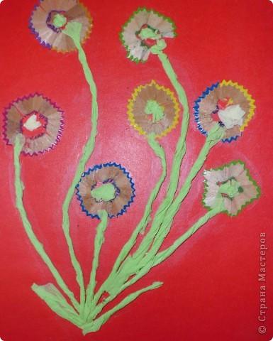 Цветы из карандашной стружки