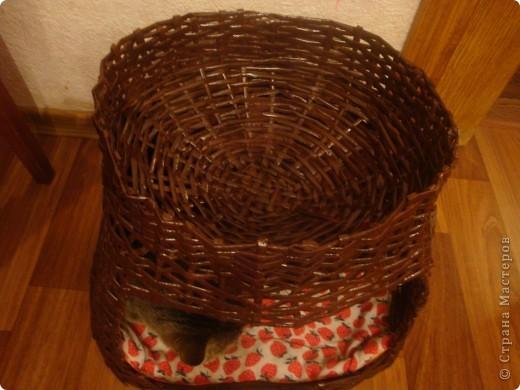 домик для кота из газетных трубочек фото 2