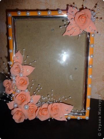 Персиковая рамка... фото 1