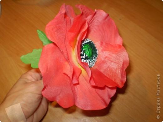 ой первый цветочек )))) из шелка)))