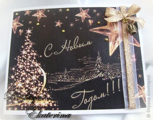 """Новогодняя открытка """"Черное золото"""" фото 1"""
