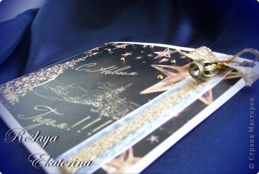 """Новогодняя открытка """"Черное золото"""" фото 2"""