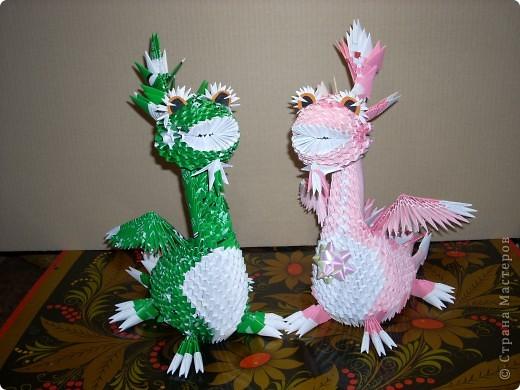 В моем драконьем стаде пополнение. Это дракончики из семейства динозавриков. Они получились настолько разными, что получили имена. фото 2