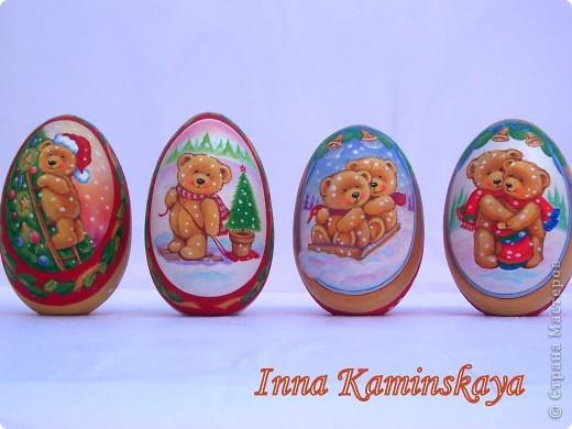 Роспись акриловыми красками на липовых яйцах фото 1