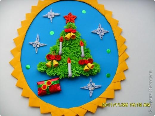 Добрый день, жители Страны! Выставляю очередную порцию своих новогодних образцов, которые делала для своих учеников. Ничего особенного в них нет, но присутствуют разные варианты изготовления елочек и игрушек. Может кому-то  пригодится. фото 2