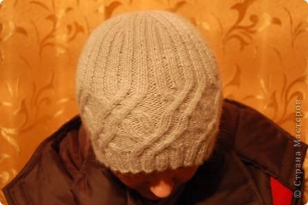 Серая шапочка для любимого.... фото 1
