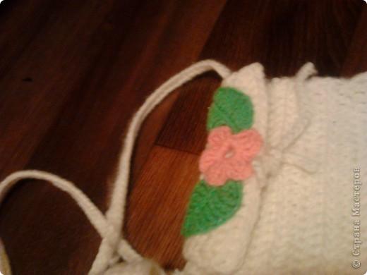 Наш теплый прогулочный комплектик - двойная шапочка и сумочка через плечо.  фото 3
