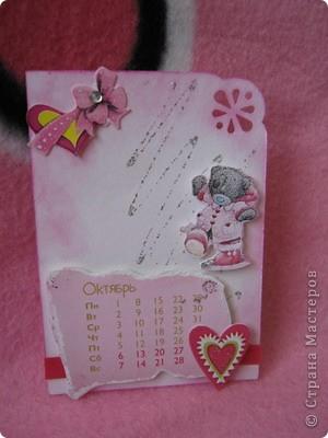 Эти карточки части календаря на 2012 год. Карточек 12, как и месяцев в году. Использована бумага ручной работы, дистресс чернила, бусины, стразы, винтажное кружево,вырубки, глиттер, брадсы. Очень трудоемкие и красивые (на мой взгляд).  поедет к bagira1965  фото 10