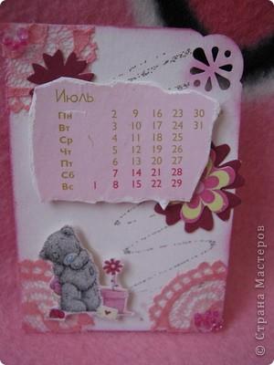 Эти карточки части календаря на 2012 год. Карточек 12, как и месяцев в году. Использована бумага ручной работы, дистресс чернила, бусины, стразы, винтажное кружево,вырубки, глиттер, брадсы. Очень трудоемкие и красивые (на мой взгляд).  поедет к bagira1965  фото 7